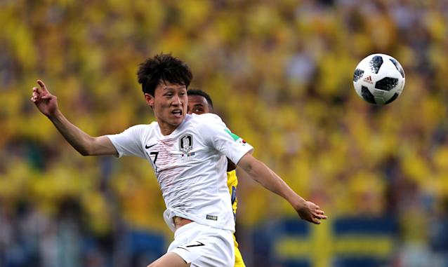 Soccer Football - World Cup - Group F - Sweden vs South Korea - Nizhny Novgorod Stadium, Nizhny Novgorod, Russia - June 18, 2018 South Korea's Lee Jae-sung in action REUTERS/Ivan Alvarado