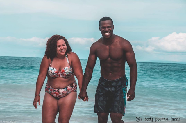 Jasmine and Keenen Owens, a couple with different body types, are happily married. (Photo: Instagram/A_body_positive_jazzy/Ryan W Media)