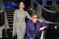 <p>Dua Lipa leans on Sir Elton John on Sunday night during the 29th Annual Elton John AIDS Foundation Academy Awards Viewing Party in L.A.</p>