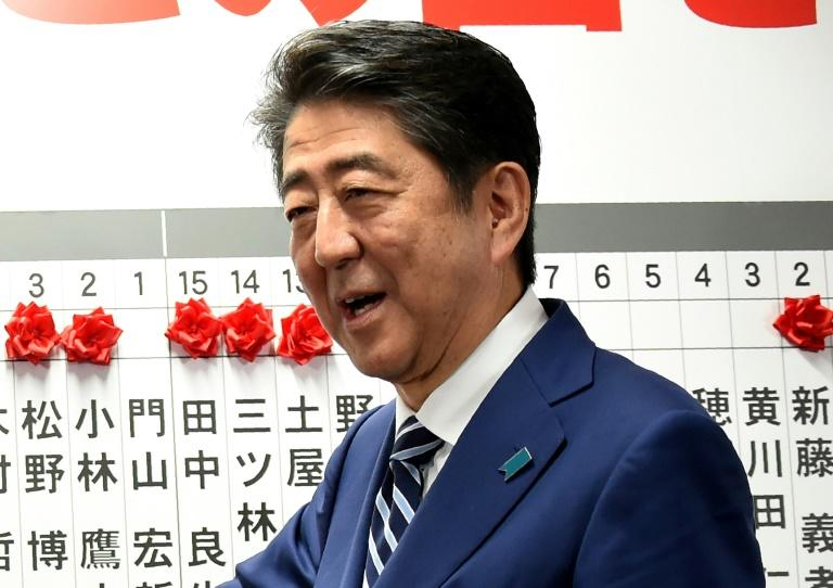 Abe's gamble paid off as he swept to a landslide victory