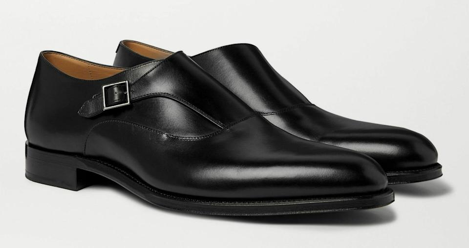 Dunhill 'Kensington' monk-strap shoes in calf leather (Price: $1,071) (Photo credit: Mr Porter)
