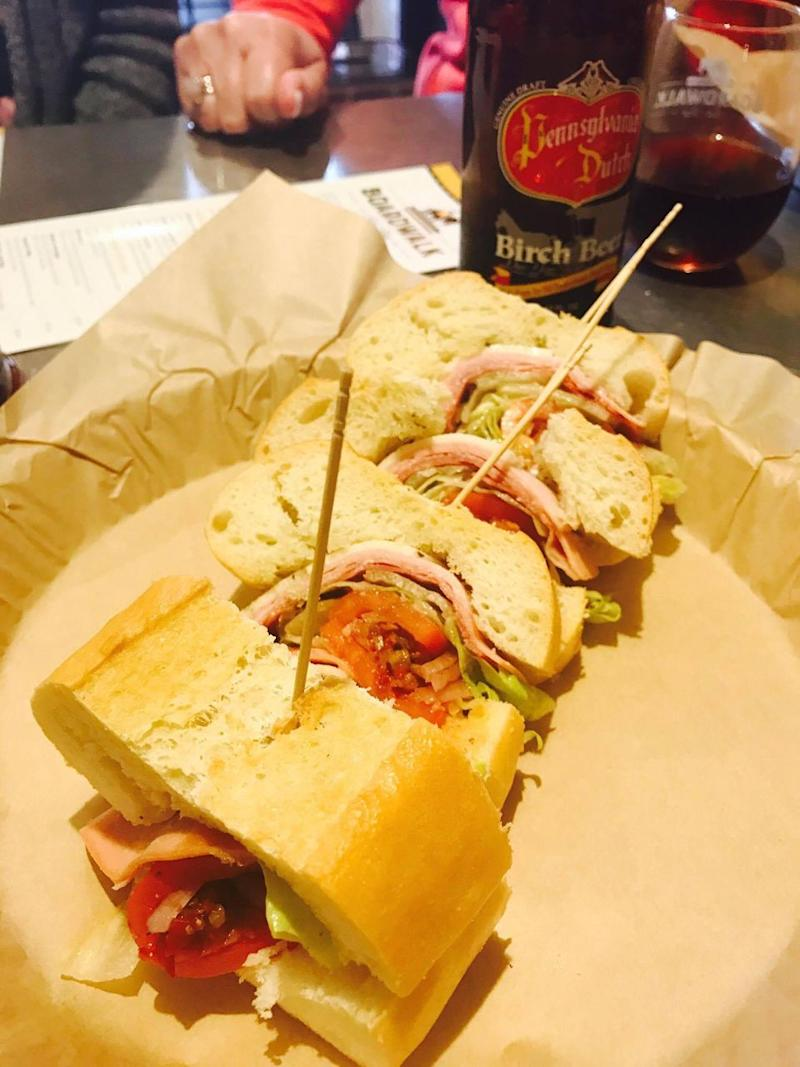 The best sub you'll ever have is at family-owned Boardwalk Sub Shop. photo: Carly Williams/Be