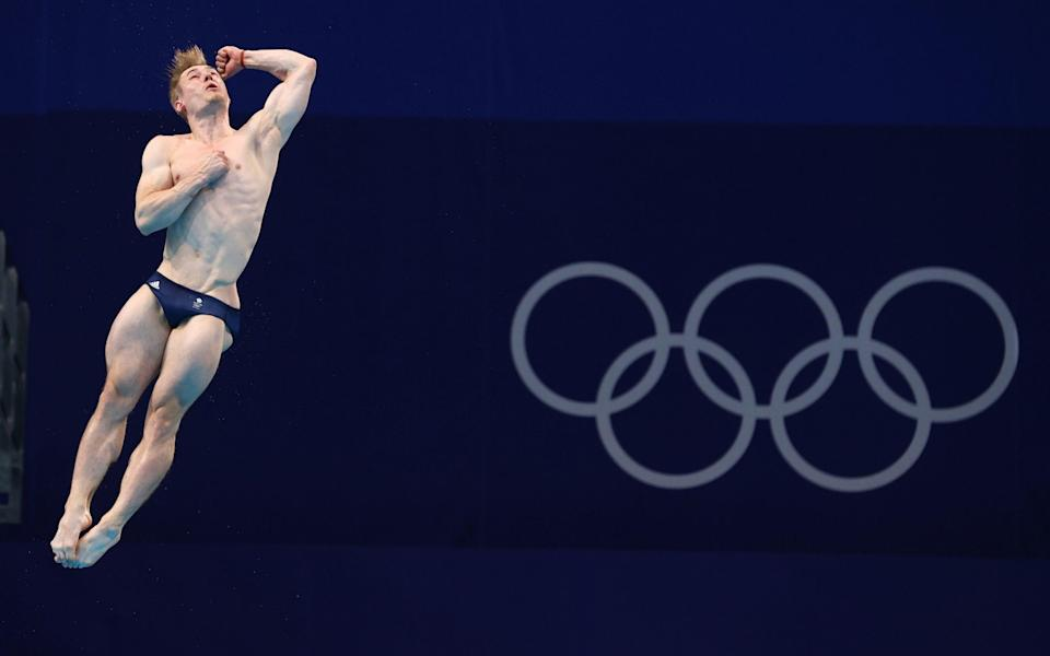 Jack Laugher of Britain in action - REUTERS
