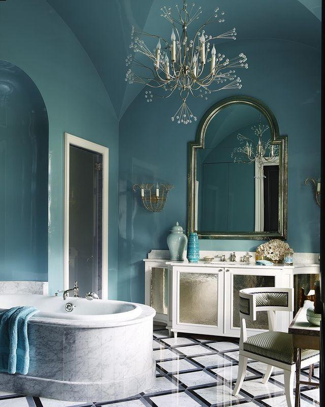 "<p>An elegant French bathroom worthy of royalty: Jean Louis Deniot's design for a Middle Eastern princess, complete with glossy walls and marble floors.</p><p><a class=""link rapid-noclick-resp"" href=""https://www.elledecor.com/design-decorate/house-interiors/g2739/house-tour-middle-eastern-princess-paris-apartment/"" rel=""nofollow noopener"" target=""_blank"" data-ylk=""slk:TOUR THE HOME"">TOUR THE HOME</a></p><p><a href=""https://www.instagram.com/p/B8AHG8_p4PB/"" rel=""nofollow noopener"" target=""_blank"" data-ylk=""slk:See the original post on Instagram"" class=""link rapid-noclick-resp"">See the original post on Instagram</a></p>"