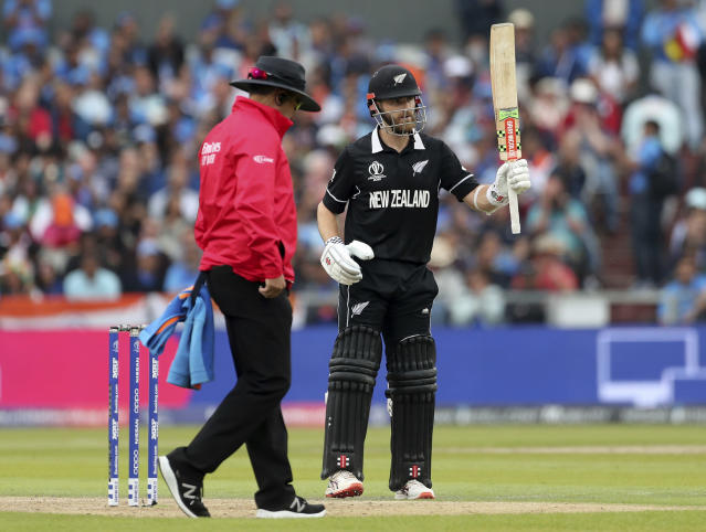 Williamson scored a crucial 50 in the opening innings to help New Zealand to victory. (AP Photo/Aijaz Rahi)