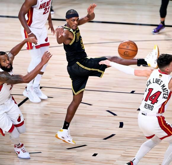 Rajon Rondo Smoothly Orchestrates Lakers Reserves In Choppy Win Over Heat