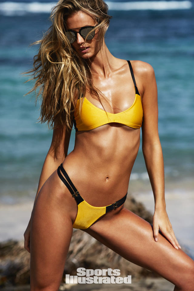 "<p>Kate Bock was photographed by Josie Clough in Nevis. Swimsuit by <a href=""https://shop.olavidaswimwear.com/"" rel=""nofollow noopener"" target=""_blank"" data-ylk=""slk:Ola Vida"" class=""link rapid-noclick-resp"">Ola Vida</a>.</p>"