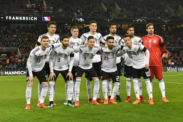 Germany will face Mexico, Sweden and South Korea in Group F at the World Cup