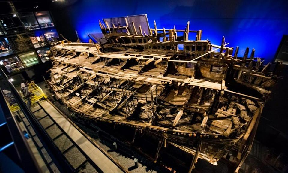 Chainmail from Mary Rose analysedUndated handout photo issued by Johnny Black/Warwick University showing the wreck of the Tudor warship, the Mary Rose, preserved in Portsmouth. PA Photo.