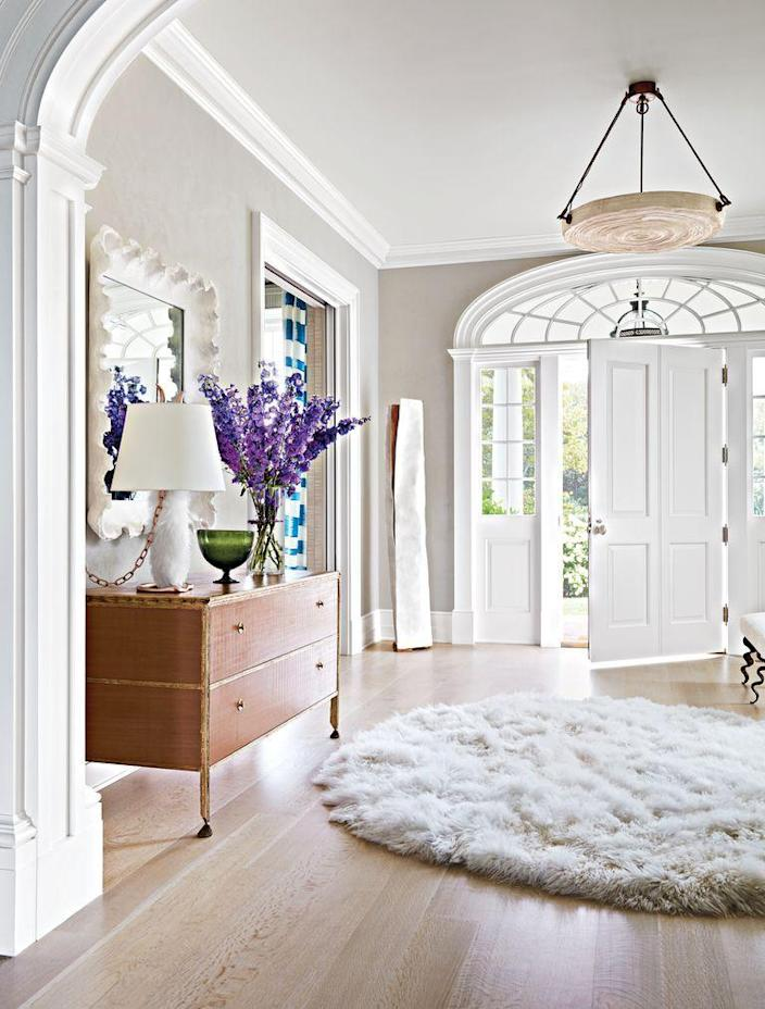 <p>When a space is in need of additional light, it's best to choose light wood flooring to brighten up the room. Light stains are also perfect for high-traffic areas, since they're better at masking scratches.</p>