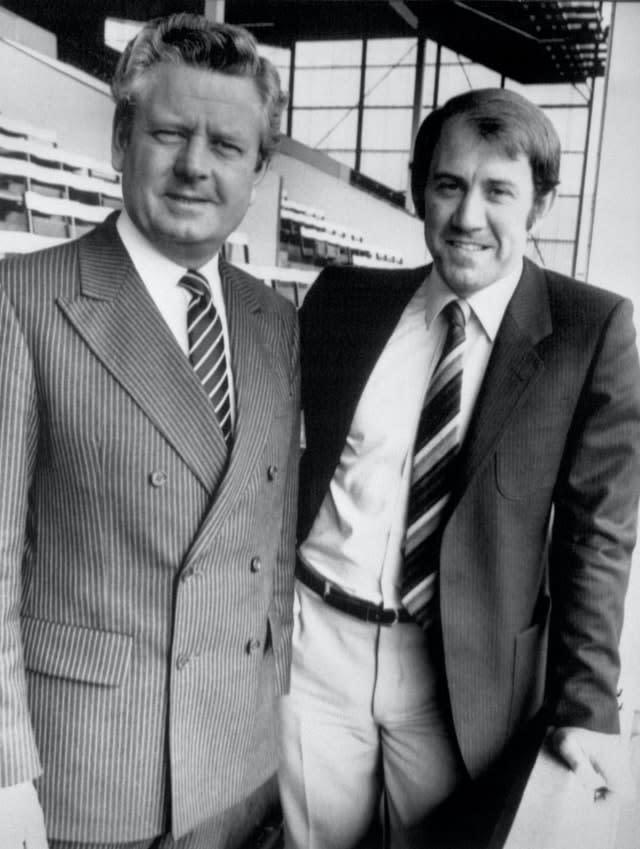 Kendall, right, returned to Goodison Park as manager in 1981 (PA)