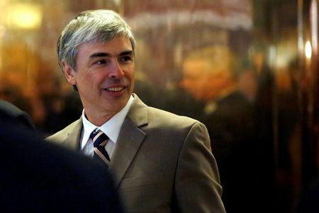 FILE PHOTO: Larry Page, CEO and Co-founder of Alphabet enters Trump Tower ahead of a meeting of technology leaders with President-elect Donald Trump in Manhattan, New York City, U.S., December 14, 2016.  REUTERS/Andrew Kelly/File Photo