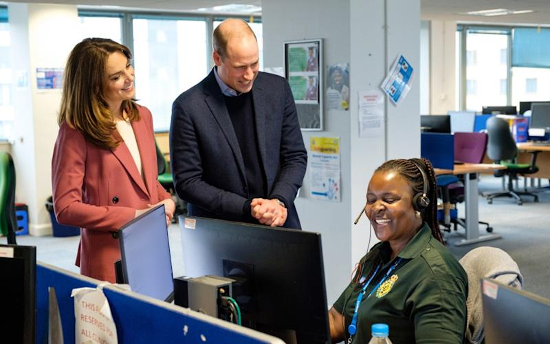 The Duke and Duchess of Cambridge visit NHS 111 staff