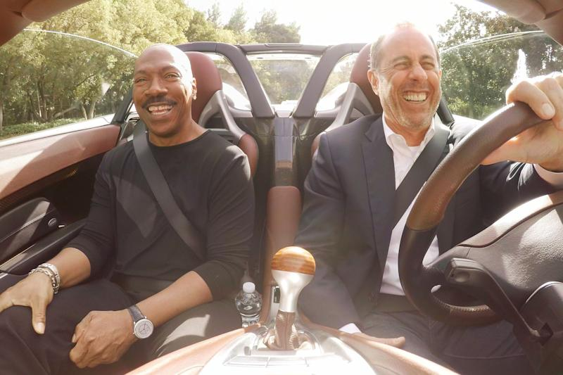 Eddie Murphy appears in Comedians in Cars Getting Coffee with Jerry Seinfeld (Credit: Netflix)