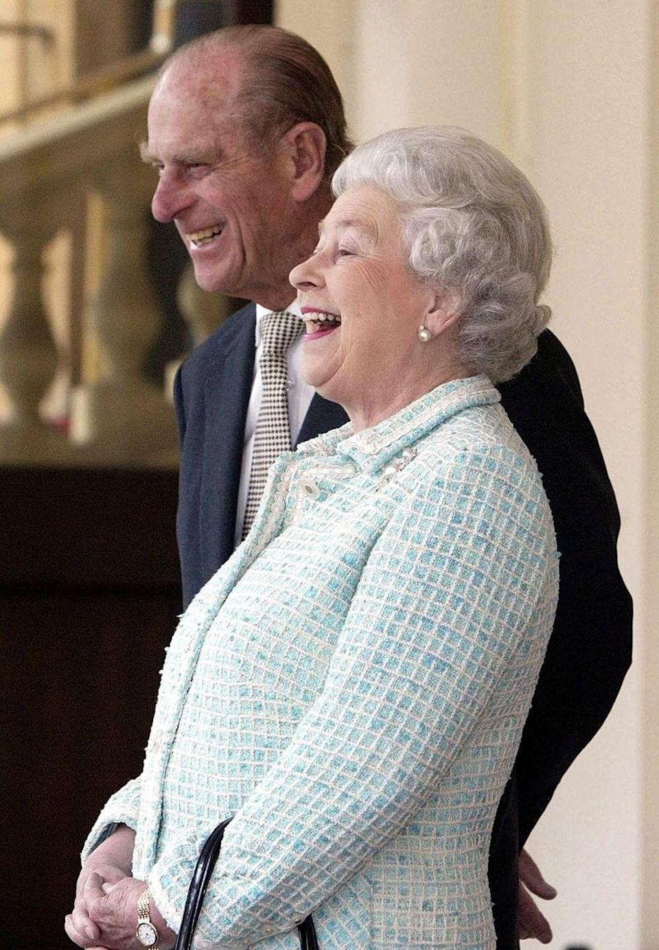 <p>An amusing moment during a meeting with the president of Poland at Buckingham Palace </p>