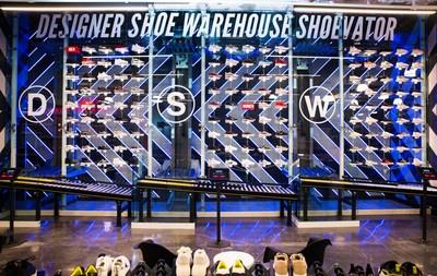fb3524fdf212 Check out DSW Designer Shoe Warehouse s proprietary Shoevator TM in its  brand new location in Las
