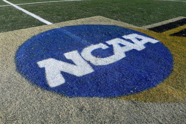 PHOTO: The NCAA logo on the field. (G Fiume/Maryland Terrapins/Getty Images)