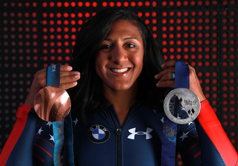 "The new ""Thank You, Mom"" ad drew inspiration from real athletes who have overcome bias, like bobsledder Elana Meyers Taylor. (Tom Pennington via Getty Images)"