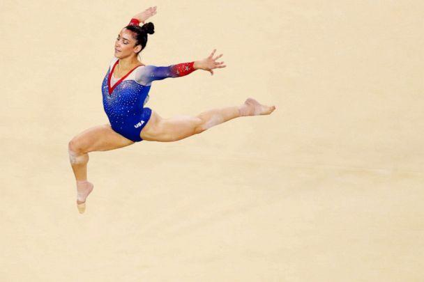 PHOTO: American Aly Raisman competes on the Women's Floor final on Day 11 of the Rio 2016 Olympic Games on Aug. 16, 2016 in Rio de Janeiro. (Dean Mouhtaropoulos/Getty Images)