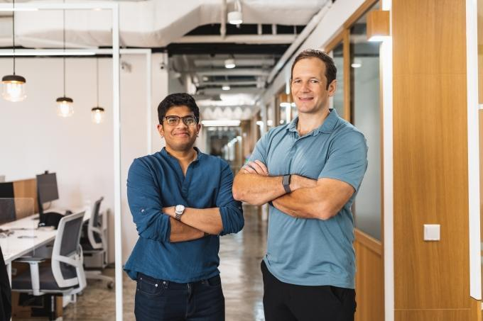 The founders of Greywing, Nick Clarke and Hrishi Olickel