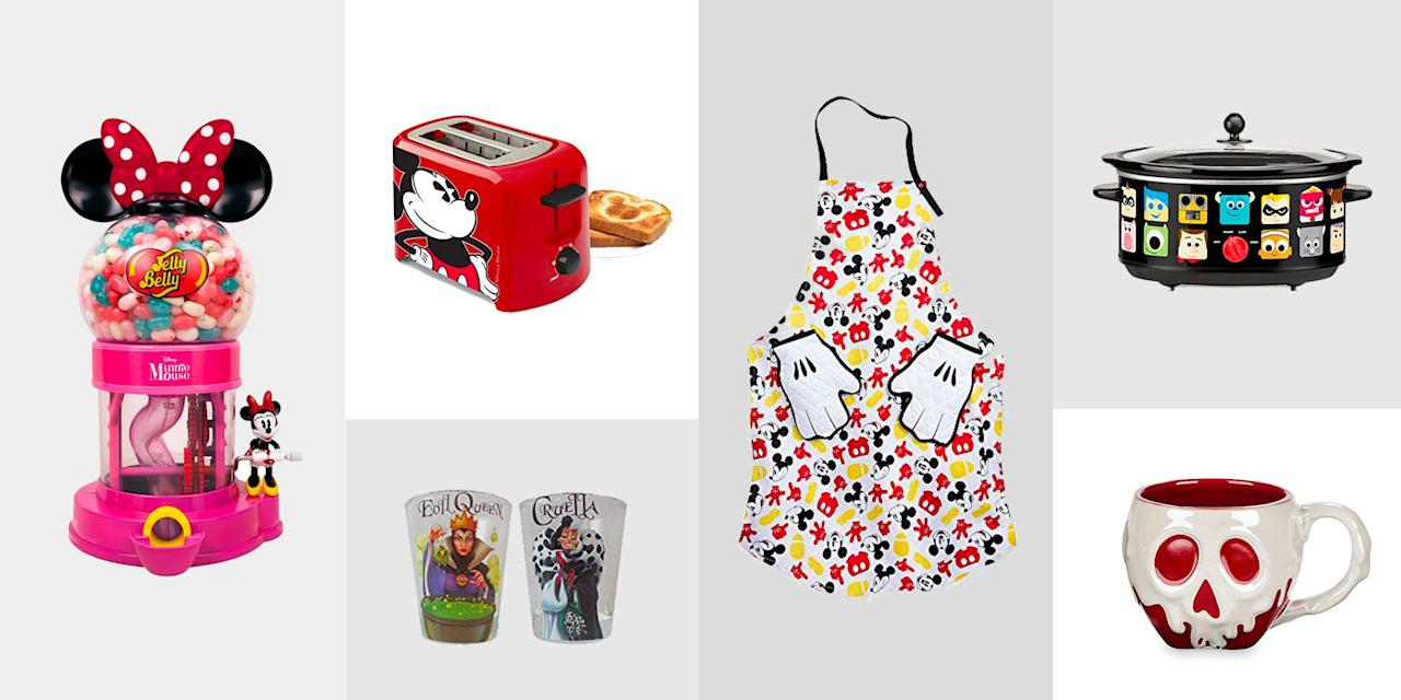 """<p>Ask any Disney mega-fan...you never outgrow your love for Mickey Mouse. Shop these Walt Disney-inspired gifts to find the perfect present for the Disney lover in your life. From wine glasses to oven mitts, these items will make their kitchen a little more magical and they'll love you forever for it. Seriously...the """"best gift giver"""" title is about to be yours.</p>"""