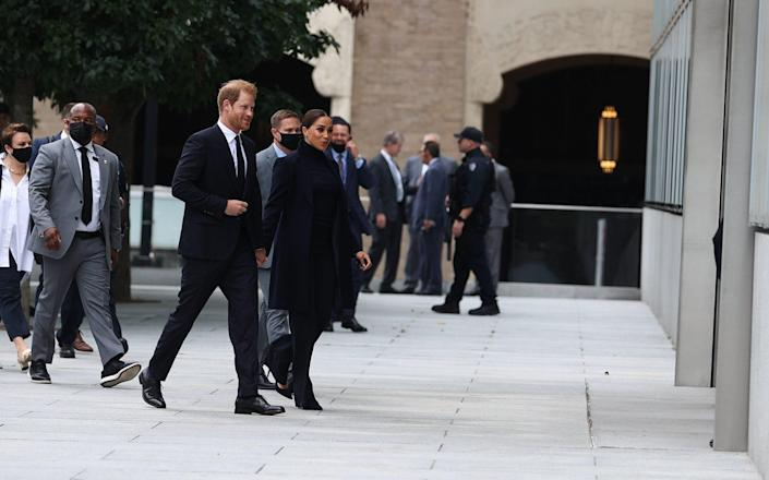 Prince Harry and Meghan will also meet Mr de Blasio's wife, Chirlane McCray, the first lady of New York and a writer and activist, and their son Dante de Blasio. - Anadolu