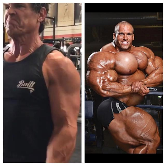 "<p>Reynolds continues faux feud with Brolin, taking a shot at his tuned-up physique with this June 5 zinger: ""Thought you might like some updated training shots from <a href=""https://www.instagram.com/explore/tags/deadpool2/"" rel=""nofollow noopener"" target=""_blank"" data-ylk=""slk:#deadpool2"" class=""link rapid-noclick-resp"">#deadpool2</a> Check out <a href=""https://www.instagram.com/joshbrolin/"" rel=""nofollow noopener"" target=""_blank"" data-ylk=""slk:@joshbrolin"" class=""link rapid-noclick-resp"">@joshbrolin</a> on the left… Getting RIPPED. Soon he'll step deep into the soul of CABLE. On the right, you can see me doing some light flexing while being silly in my dressing room. I have a long way to go still. PRO TIP: 'Leg Day' is important. But 'Smile Day' is essential."" (Photo: <a href=""https://www.instagram.com/p/BU-Y3FajLEz/"" rel=""nofollow noopener"" target=""_blank"" data-ylk=""slk:vancityreynolds/Instagram"" class=""link rapid-noclick-resp"">vancityreynolds/Instagram</a>) </p>"