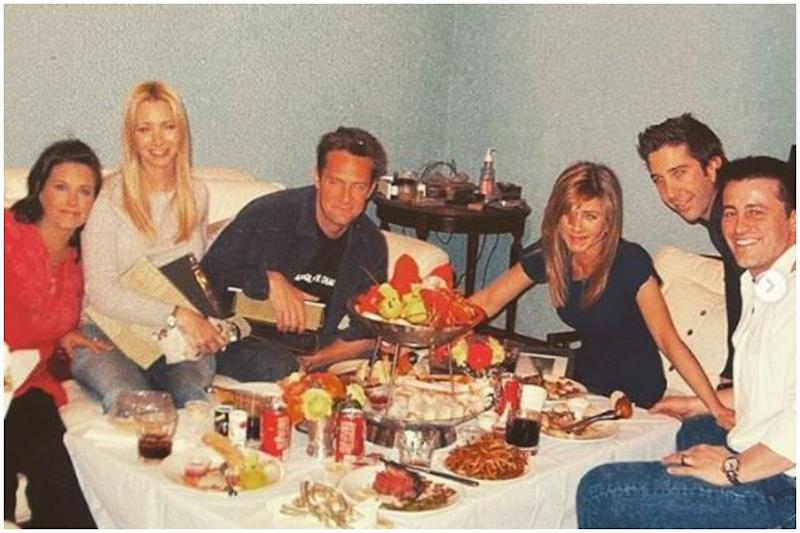 Courteney Cox Shares Throwback Photo from Friends' Last Supper