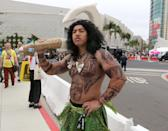 <p>Cosplayer dressed as Maui from <em>Moana</em> at Comic-Con International on July 20 in San Diego. (Photo: Angela Kim/Yahoo Entertainment) </p>