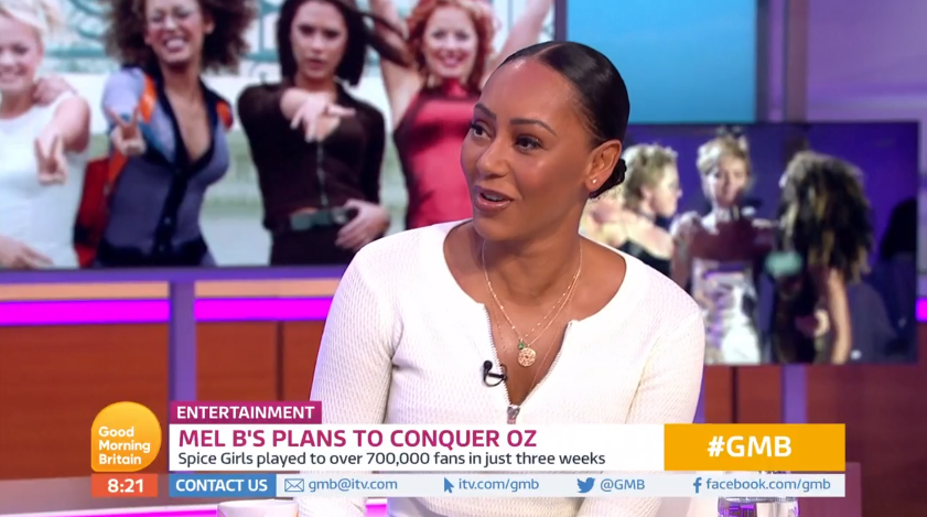 Mel B admits she is not happy with Victoria Beckham (Credit: ITV)