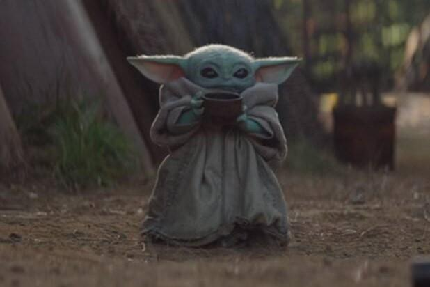 Baby Yoda in The Mandalorian (Credit: Disney)
