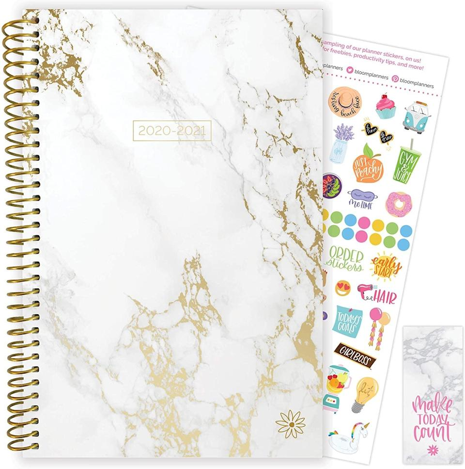 <p>This marbled <span>Bloom Daily Planners 2020-2021 Academic Planner</span> ($9, originally $19) is how you'll get through the school year.</p>