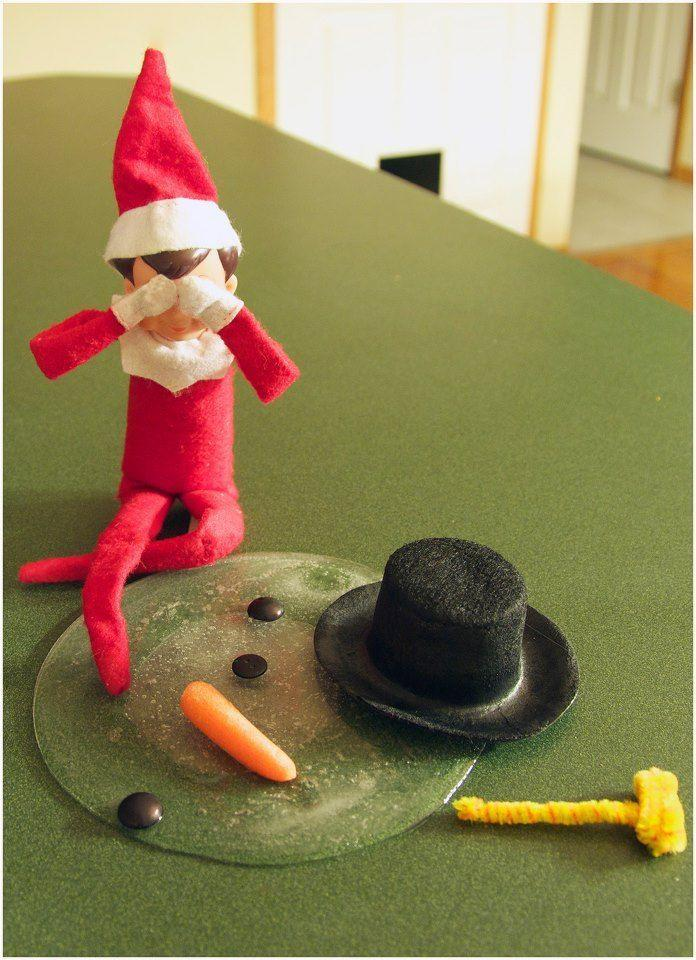 """<p>You can DIY your own melted snowman, or buy one that comes pre-smushed. Either way, reassure your elf (and family) that he'll be right as rain once he freezes up again.</p><p><a class=""""link rapid-noclick-resp"""" href=""""https://www.amazon.com/Toysmith-9340-Melting-Snowman/dp/B00ESIOUGK/?tag=syn-yahoo-20&ascsubtag=%5Bartid%7C10055.g.3033%5Bsrc%7Cyahoo-us"""" rel=""""nofollow noopener"""" target=""""_blank"""" data-ylk=""""slk:SHOP MELTING SNOWMEN"""">SHOP MELTING SNOWMEN</a></p><p><a href=""""https://www.facebook.com/SmartyTheElf/photos/a.540643459298244.136796.527533040609286/551258111570112/?type=1&theater"""" rel=""""nofollow noopener"""" target=""""_blank"""" data-ylk=""""slk:See more at Smarty the Elf's Facebook page »"""" class=""""link rapid-noclick-resp""""><em>See more at Smarty the Elf's Facebook page »</em></a> </p>"""