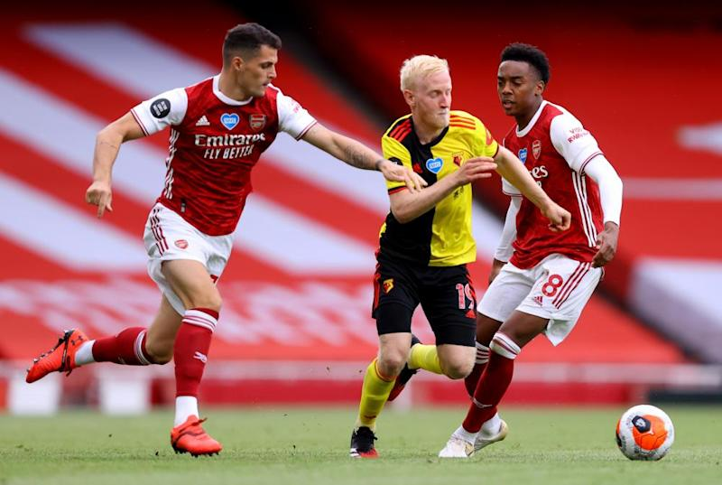 Will Hughes, in the centre of the action, could be a key figure for Watford.
