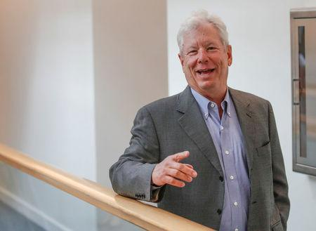 U.S. economist Richard Thaler, of the University of Chicago Booth School of Business in Chicago. REUTERS/Kamil Krzaczynski
