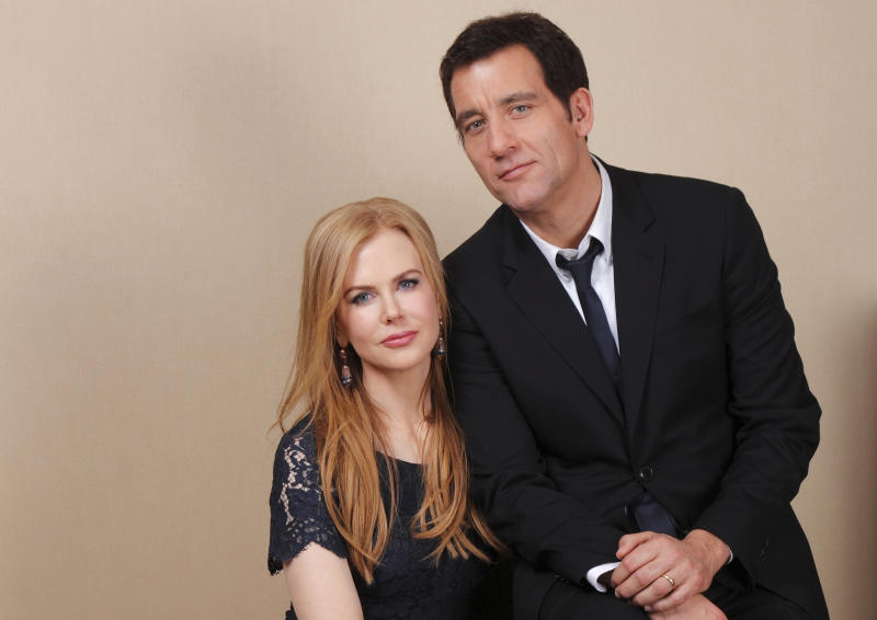"FILE - In this Jan. 13, 2012 file photo, actress Nicole Kidman, left, and actor Clive Owen pose for a portrait while promoting the HBO film ""Hemingway & Gellhorn"" at the Television Critics Association Winter Press Tour in Pasadena , Calif. The film, about the relationship between Ernest Hemingway and Martha Gellhorn, premieres May 28, 2012 at 9p.m. on HBO. (AP Photo/Danny Moloshok, file)"