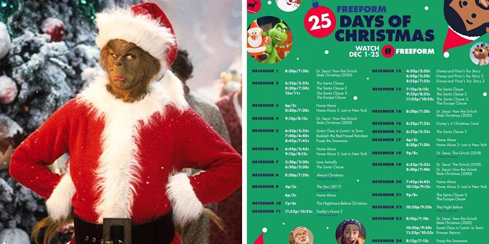 Freeform 25 Days Of Christmas 2021 Disney Points Freeform S 25 Days Of Christmas Schedule Will Keep You Glued To The Tv This December