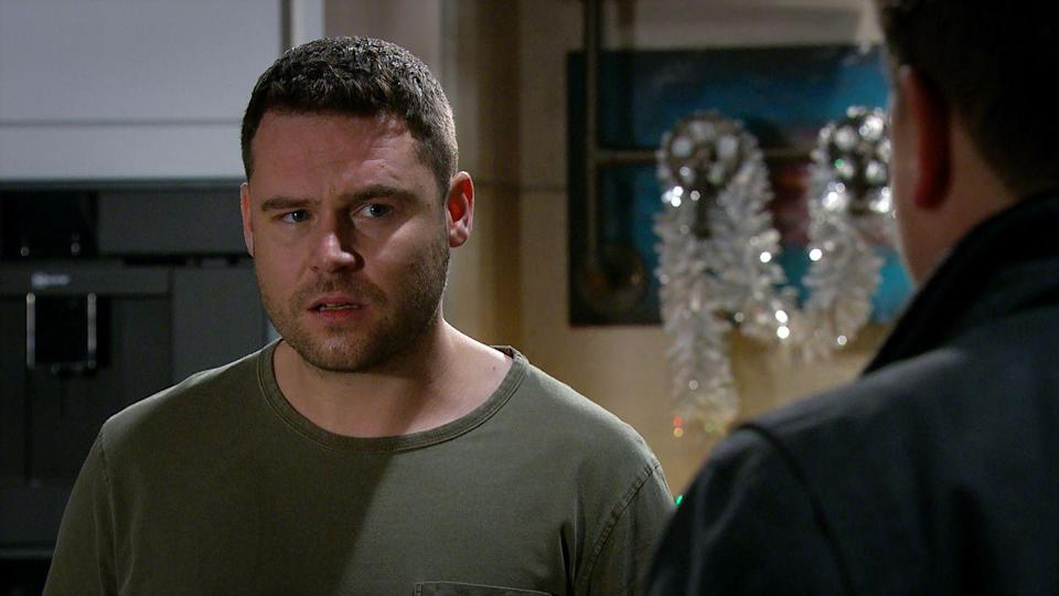 <p>He can't believe that Liv didn't confide in him.</p>