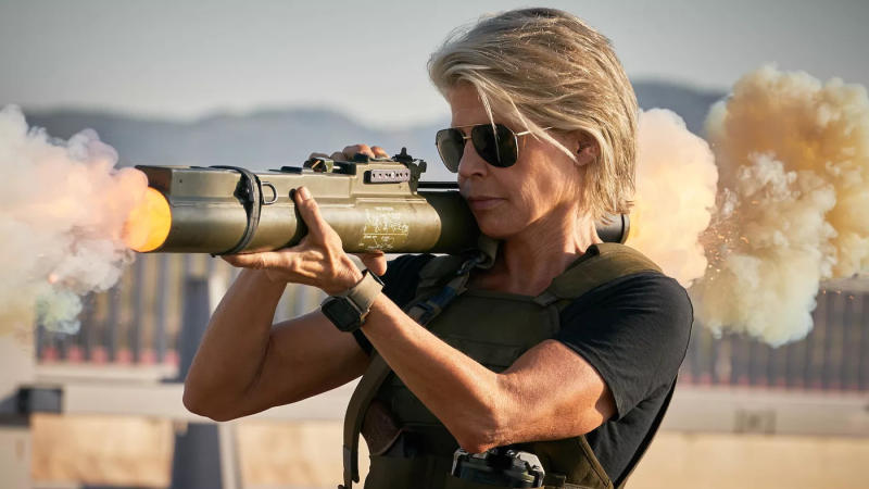 Linda Hamilton returns as Sarah Connor in 'Terminator: Dark Fate'. (Credit: Fox)