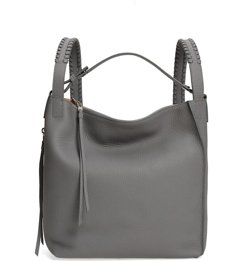 Allsaints Small Kita Convertible Leather Backpack. Image via Nordstrom.