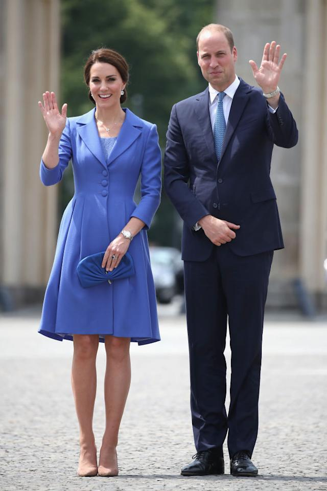 <p>Forget the United Kingdom for one moment, the Duke and Duchess frequently reign over the fashion stakes. Let's be frank, nobody colour-coordinates quite like the royal pair. Our favourite look this year? When the couple vistited the Brandenberg Gate on July 19, 2017 they looked picture perfect. <em>[Photo: Getty]</em> </p>
