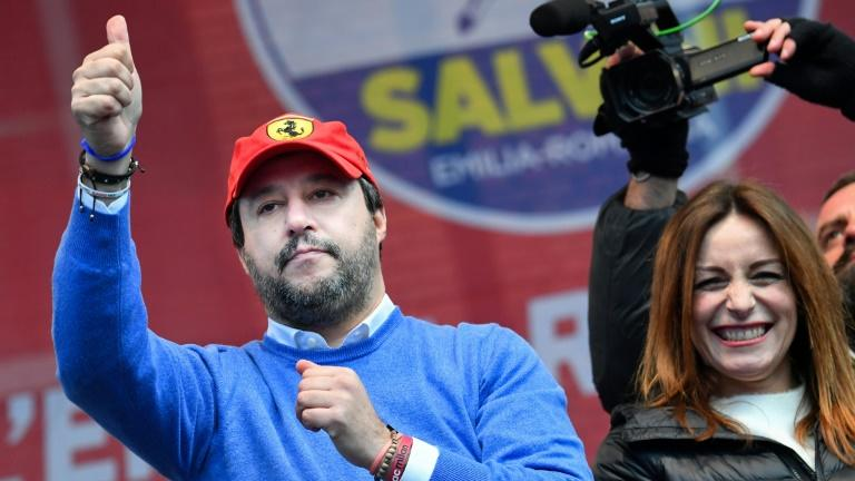 Matteo Salvini's far-right League had hoped to score an historic upset and force snap elections in the regional vote in Emilia Romagna (AFP Photo/Andreas SOLARO)