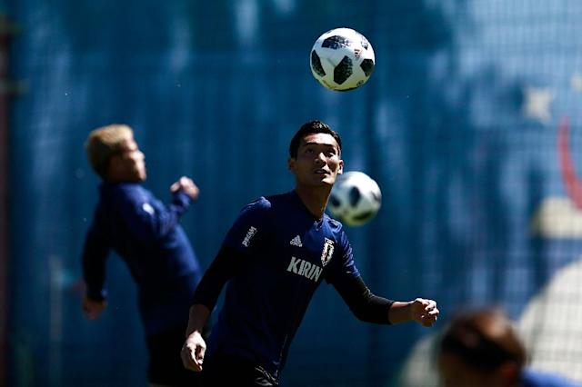 Japan will face Colombia on Tuesday in their first Russia 2018 World Cup match (AFP Photo/Benjamin CREMEL)