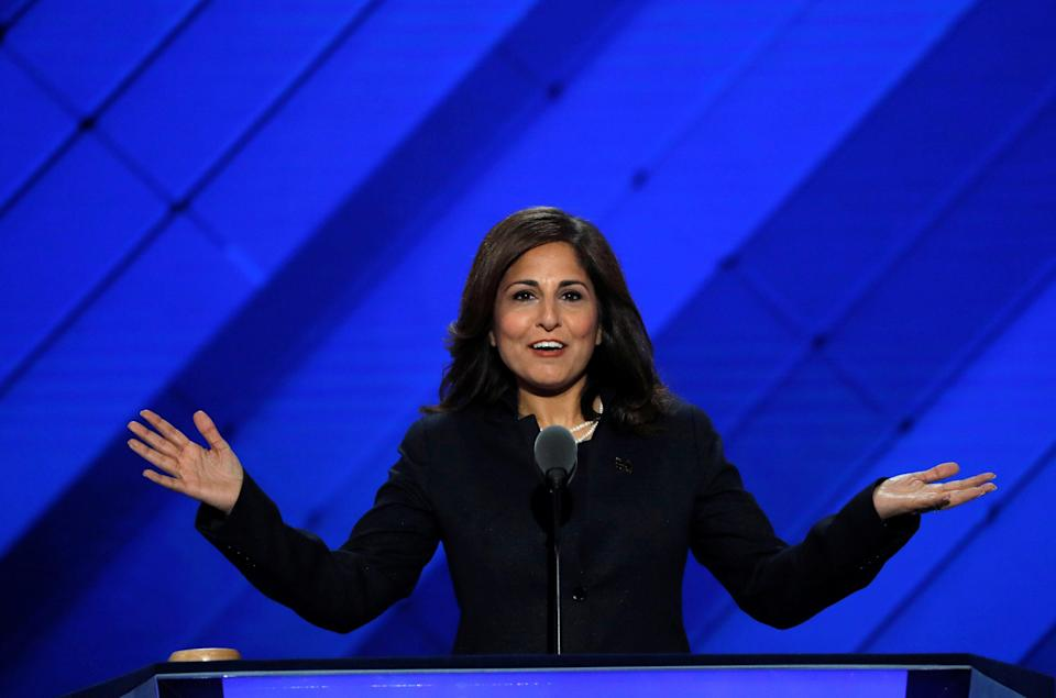 Neera Tanden speaks at the 2016 Democratic National Convention (REUTERS)