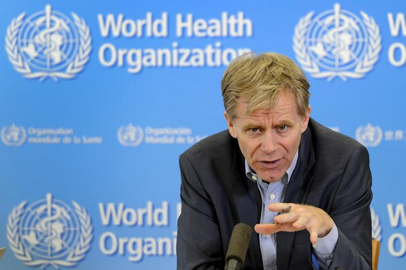 World Health Organization Assistant Director-General Bruce Aylward holds a press confence on the Ebola outbreak on October 29, 2014 at the WHO headquarters in Geneva (AFP Photo/Fabrice Coffrini)