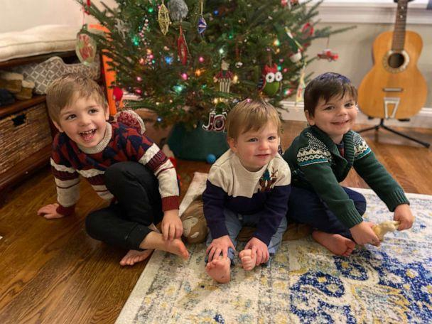 PHOTO: In 2018, KC and Lena Currie, of Sudbury, Mass., officially adopted Joey, now 3. One year later, they adopted Joey's biological brothers, Logan, 2 and Noah, 1, on National Adoption Day, Nov. 23. (Currie Family)