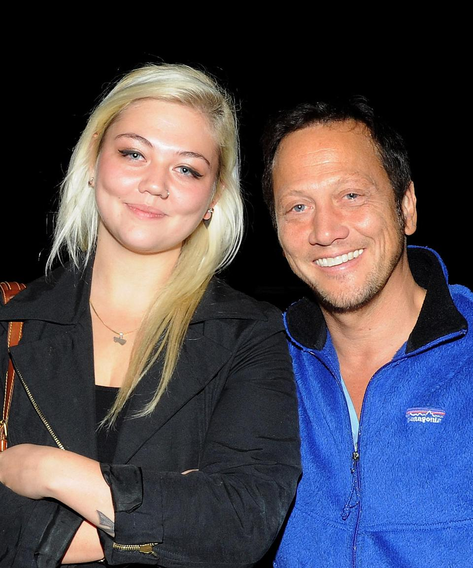 """<p>""""Honestly, he's probably my biggest supporter,"""" King told <a href=""""https://people.com/music/elle-king-reconnected-dad-rob-schneider/"""" rel=""""nofollow noopener"""" target=""""_blank"""" data-ylk=""""slk:PEOPLE."""" class=""""link rapid-noclick-resp"""">PEOPLE.</a> """"Like, every other day I'll get texts in all caps of like, 'Your record's gonna change the world! I can't wait for your fans to hear what you've made! I love you! I'm so proud of you!' And that's a beautiful, wonderful thing.""""</p>"""