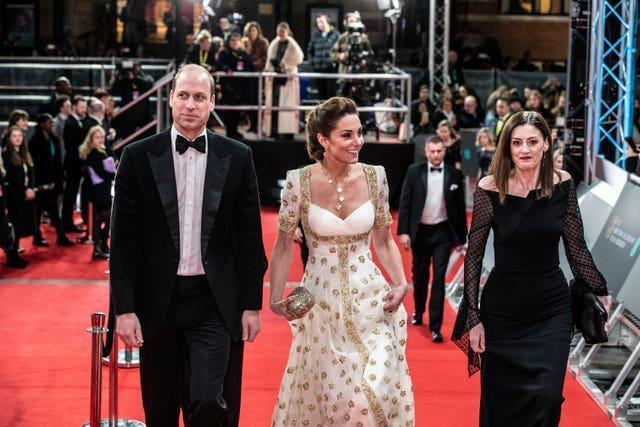 The Duke and Duchess of Cambridge attend the Baftas