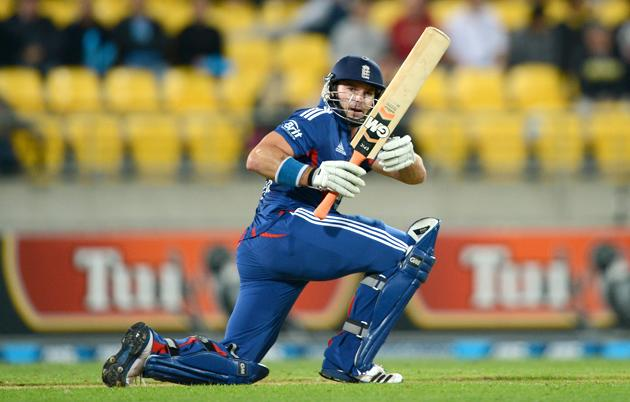 Michael Lumb of England bats during the third Twenty20 International match between New Zealand and England at Westpac Stadium on February 15, 2013 in Wellington, New Zealand.  (Photo by Gareth Copley/Getty Images)