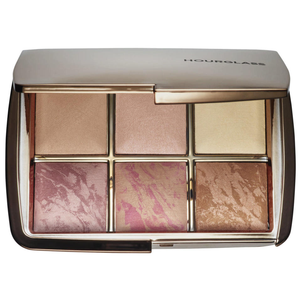 """<p>What do you get the friend who has already mastered the selfie? This clutch-sized palette of six strobing and highlighting shades uses what Hourglass dubs Photoluminescent Technology to filter out your skin imperfections, such as a pale yellow to diffuse redness. It can even be used wet for a more intense highlight. <a href=""""http://www.hourglasscosmetics.com/lighting-edit"""" rel=""""nofollow noopener"""" target=""""_blank"""" data-ylk=""""slk:Hourglass Ambient Lighting Edit"""" class=""""link rapid-noclick-resp"""">Hourglass Ambient Lighting Edit</a> ($80)</p><p><i>(Photo: Sephora)</i></p>"""